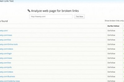 An Online tool to Analyze the Links of Any Web Page