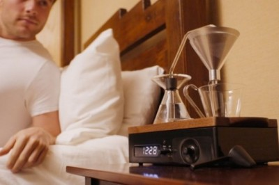 This alarm clock will now prepare coffee for you
