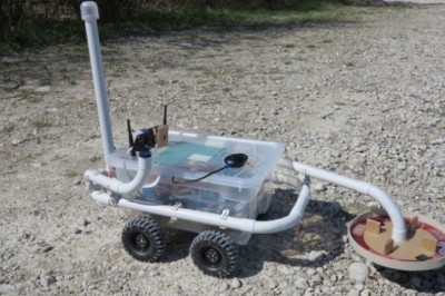 A metal detector robot build using Raspberry Pi