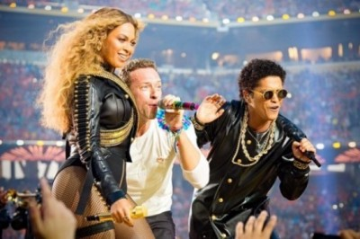 Beyoncé, Coldplay and Bruno Mars showered love and color in the Super Bowl 50
