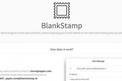 blankstamp, a way to send an anonymous email from Gmail, outlook, yahoo