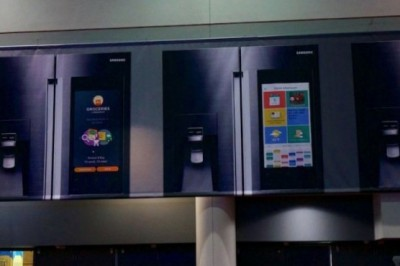 Samsung smart refrigerator with touchscreen, will be presented at # CES2016